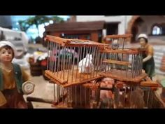 Animal Cages for the Christmas Nativity Scene Christmas Nativity Scene, Pet Cage, Game, Youtube, Rabbit Cages, Nativity Sets, How To Make, Ornaments, Xmas