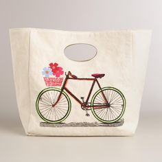 Bike Fluf Organic Cotton Lunch Bag | World Market