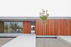 flat-roof-house-concrete-wood-glass-walkway-gravel flat-roof-house-concrete-wood-glass-walkway-gravel