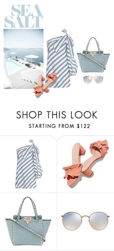 """""""sea salt"""" by getdressedwithme on Polyvore featuring moda, Loeffler Randall, Valentino i Ray-Ban"""