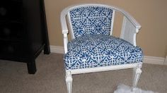 I want a nice, cheery, patterned chair. Eames Rocking Chair, Rocking Chair Nursery, Chair Redo, Chair Makeover, Mission Chair, Cheap Office Chairs, Accent Chairs Under 100, Patterned Armchair, Modern Dining Chairs