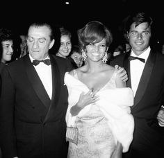 Luchino Visconti - Claudia Cardinale - Jean Sorel (Festival del Cinema di Venezia 1965)