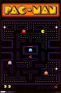 Pac Man - Poster - Fun for game room.