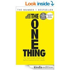 The One Thing: The Surprisingly Simple Truth Behind Extraordinary Results: Achieve your goals with one of the world's bestselling success books (Basic Skills) (English Edition) Free Books, Good Books, Books To Read, Russian Proverb, Reading Projects, How To Gain Confidence, Achieve Your Goals, Book Nerd, Reading Lists