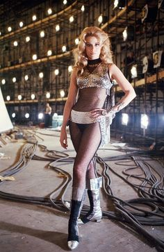 Sixties | Jane Fonda on the set of Barbarella, 1967