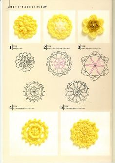 Japanese Crochet Motifs - Patterns thru page 13