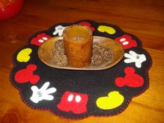 Mickey Mouse inspired mat penny rug style by 3LaughingPumpkins, $38.99