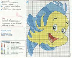 Мультяшная рыбка – цветная схема вышивки | Вышивка крестиком