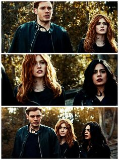 """#Shadowhunters 2x16 """"Day of Atonement"""" - Jace, Clary and Izzy"""
