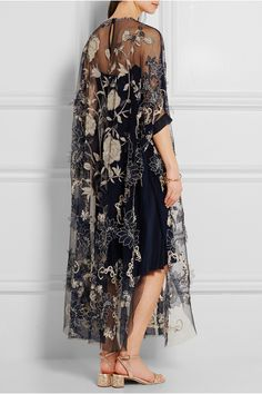 Biyan Assad embellished embroidered tulle dress