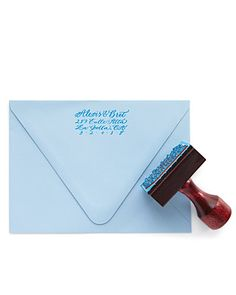 Rubber Stamp - order one of these inexpensive calligraphy address stamps from Emilie Friday Stamp