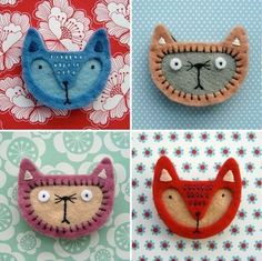 felt brooches - Google Search