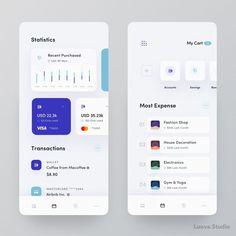 banking app Personal Expense Manager A - banking Ui Design Mobile, Ios App Design, Interface Design, Web Design, Finance, App Design Inspiration, Mobile App Ui, Ui Web, Application Design