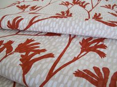hand stenciled fabric