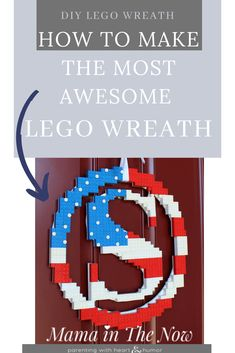 This season's most awesome LEGO wreath is perfect for your front door. Instructions and creative inspiration for you to build your own DIY LEGO Flag Wreath. Wreath Crafts, Diy Wreath, Wreaths, Diy Crafts To Sell, Diy Crafts For Kids, Craft Ideas, Cool Lego, Awesome Lego, Flag Wreath