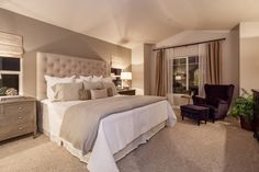 neutral tone on tone bedroom