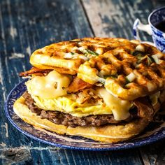 Try this mouthwatering, sweet and spicy breakfast sandwich- THE ULTIMATE JALAPEÑO WAFFLE SANDWICH!