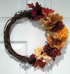 Dollar Store Wreath for fall