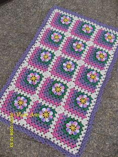 Oiê!!! tudo bem, lindas e lindos de plantão???     Trazendo mais um tapete Acalanto, nas mesmas cores do outro post... o pessoal tá gosta...