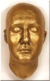 This is the death mask of George Reeves, the actor that played Superman in the classic tv show.