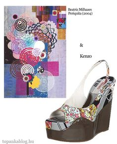 Painting by Beatriz Milhazes, shoes by Kenzo