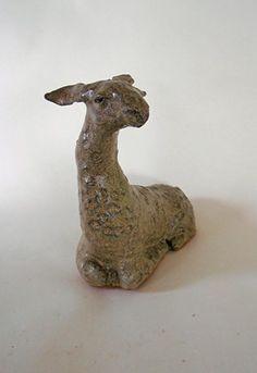 clay, ceramic, sculpture, LLama Sculpture Clay, Garden Sculpture, Sculptures, Llama Arts, Paperclay, Clay Ideas, Pottery, Ceramics, Outdoor Decor