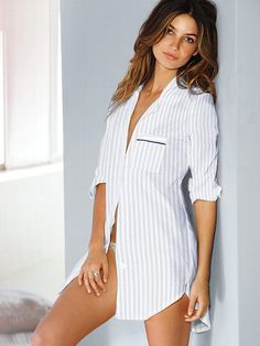 NEW!  			Cotton Mayfair Sleepshirt #VictoriasSecret http://www.victoriassecret.com/sleepwear/sleepshirts-and-nighties/cotton-mayfair-sleepshirt?ProductID=106695=OLS?cm_mmc=pinterest-_-product-_-x-_-x