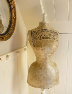 Image of Antique Stockman Wasp Waisted Decoupaged Mannequin