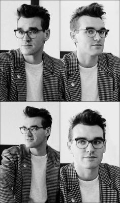 Morrissey in glasses