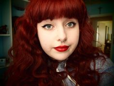 My daughter who I made into a redhead #redhair hair by cindy
