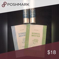 Skincare Bundle Bundle includes 2 botanical masks, Instant Lift Serum and a Collagen Serum: Makeup