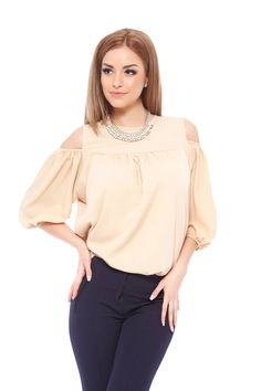 PrettyGirl Luxury Cream Blouse