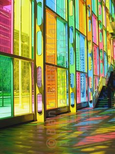rainbow windows! So pretty for a wall of windows