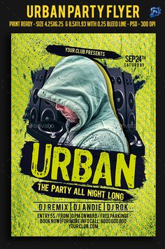 Urban Party Flyer Template PSD