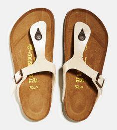 Cream Birkenstock Gizeh Habana Sandal