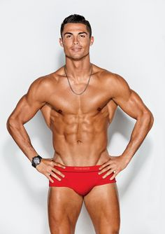 Look at this picture of Cristiano Ronaldo. In this picture of Cristiano Ronaldo, Cristiano Ronaldo has a great many impressive muscles. Especially the ones semi-mysteriously emerging from beneath h…