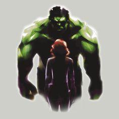 Redbubble: Black Widow and Hulk Romance T-shirt #brutasha #hulkwidow #brucenat