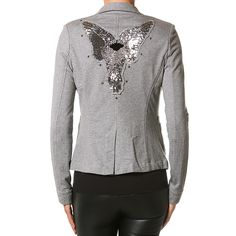 jakke grå l Plus fine/Mille K