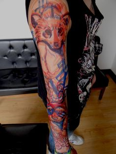 Awesome full arm and sleeve tattoo   http://tattoo-ideas.us/awesome-full-arm-and-sleeve-tattoo/  http://tattoo-ideas.us/wp-content/uploads/2013/06/Awesome-full-arm-and-sleeve-tattoo-768x1024.jpg