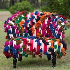 Pompom Round Armchair - Multicolour