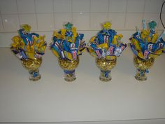 Candy Bouquets for High School Graduation Party- one on each table