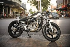 "Garage Project Motorcycles' Honda CX500 ""Morning Wood"" http://goodhal.blogspot.com/2013/02/morning-wood.html #CX500 #GarageProjectMotorcycles #Honda #Motorcycle"