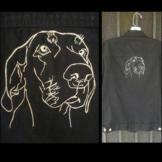 """좋아요 83개, 댓글 5개 - Instagram의 Sam/Double Vision Embroidery(@doublevisionembroidery)님: """"Custom embroidered jacket for @wabi_sabi_jewelry. Artwork by @michael_deschenes, creator of only…"""""""