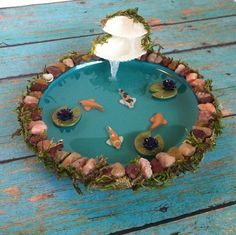 4 in. Miniature Koi Pond by TwinsieBopShop on Etsy, $35.00