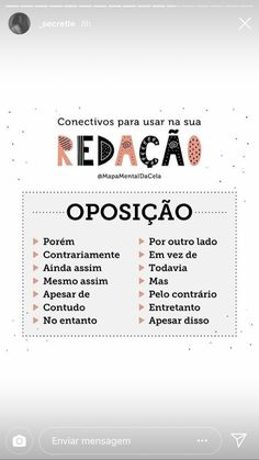 Ótima lista para quem está se preparando para a parte escrita do Celpe-Bras. School Hacks, I School, Portuguese Lessons, Learn Portuguese, Study Organization, Language Study, You Better Work, Good Notes, English Study