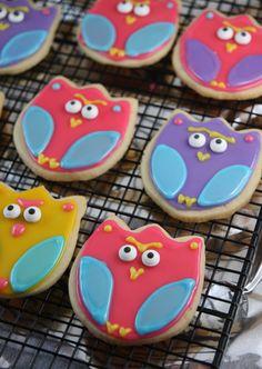 Owl sugar cookies