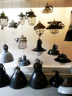 360 Volt --- an awesome #vintage #industrial #lighting #fixture #resource we found in #Amsterdam.: