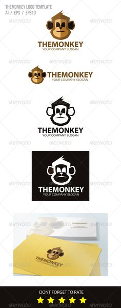 The Monkey Logo Template #graphicriver