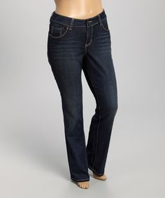 Loving this Galway Priscella Straight-Leg Jeans - Plus on #zulily! #zulilyfinds