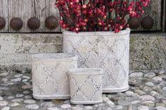 Daydream, potten cement. Verschillende vormen en formaten. Woonaccessoires. Home deco. Home Deco, Cement, Planter Pots, Home_decor, Concrete